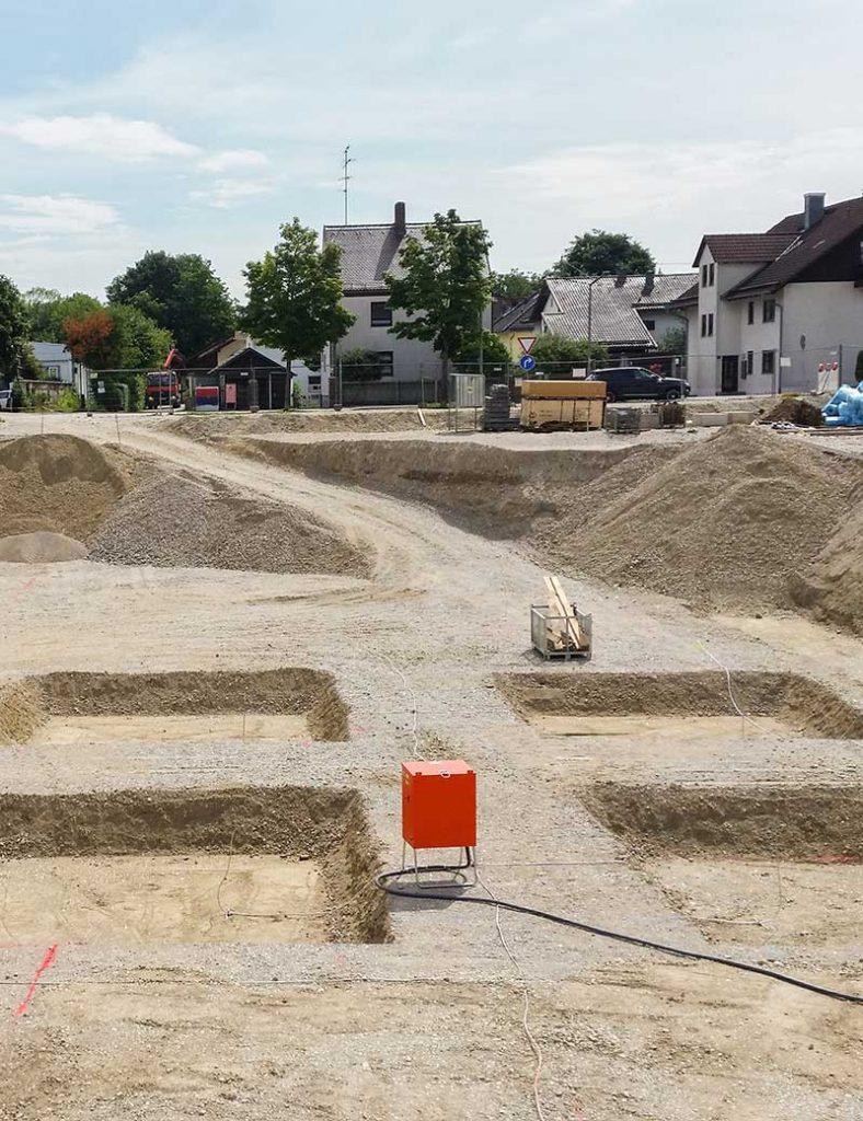 Baustelle Unterhaching