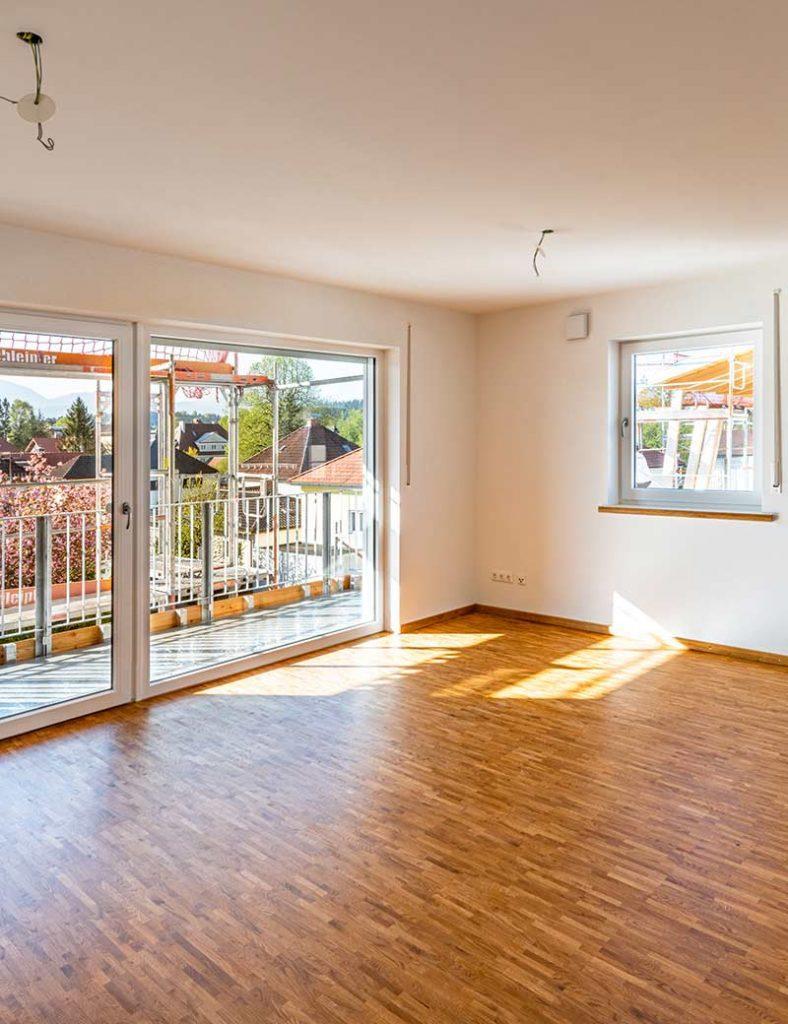 Blick auf einer Wohnung des Mehrgenerationen-Wohnprojekts in Penzberg.