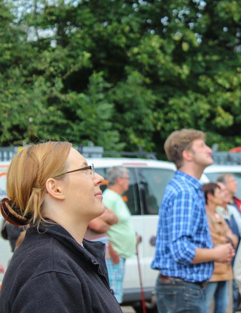 Vorstände beim Richtfest in Weilheim